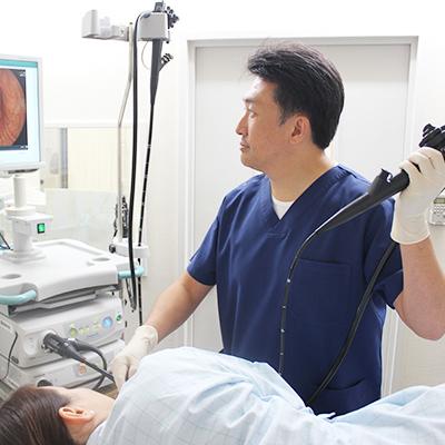 苦痛の少ない内視鏡検査を行います